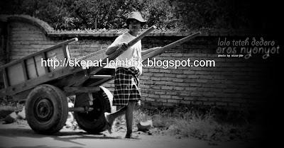 cikar lombok, cidomo lombok, horse car, alat transportasi traditional masyarakat Lombok Suku Sasak