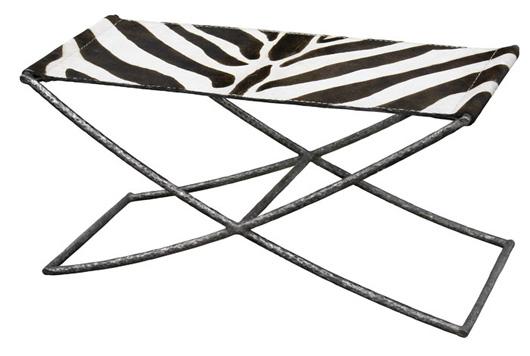 Zebra print Hadley Bench