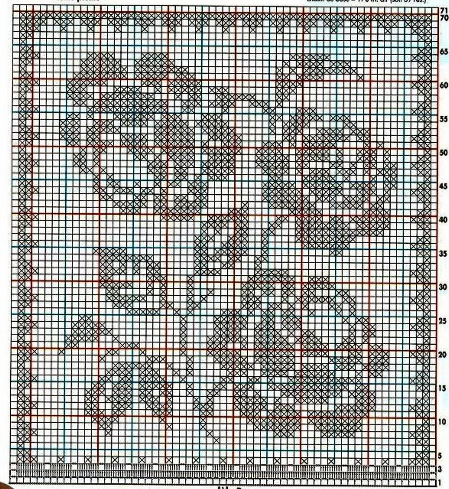 Схема тигр для филейного вязания крючком