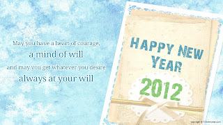 Free Download Happy New Year 2012 Card Wallpaper