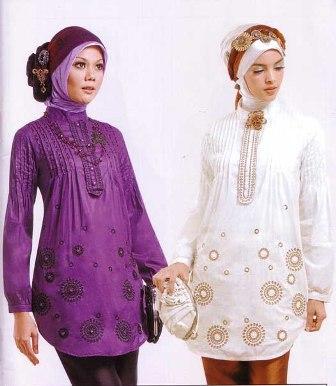 model+baju+muslim+wanita+modern+05 baju muslim terbaru 99,Model Baju Wanita Jadul
