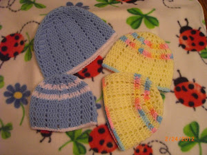 Blue Hat, Yellow too, for Preemies!