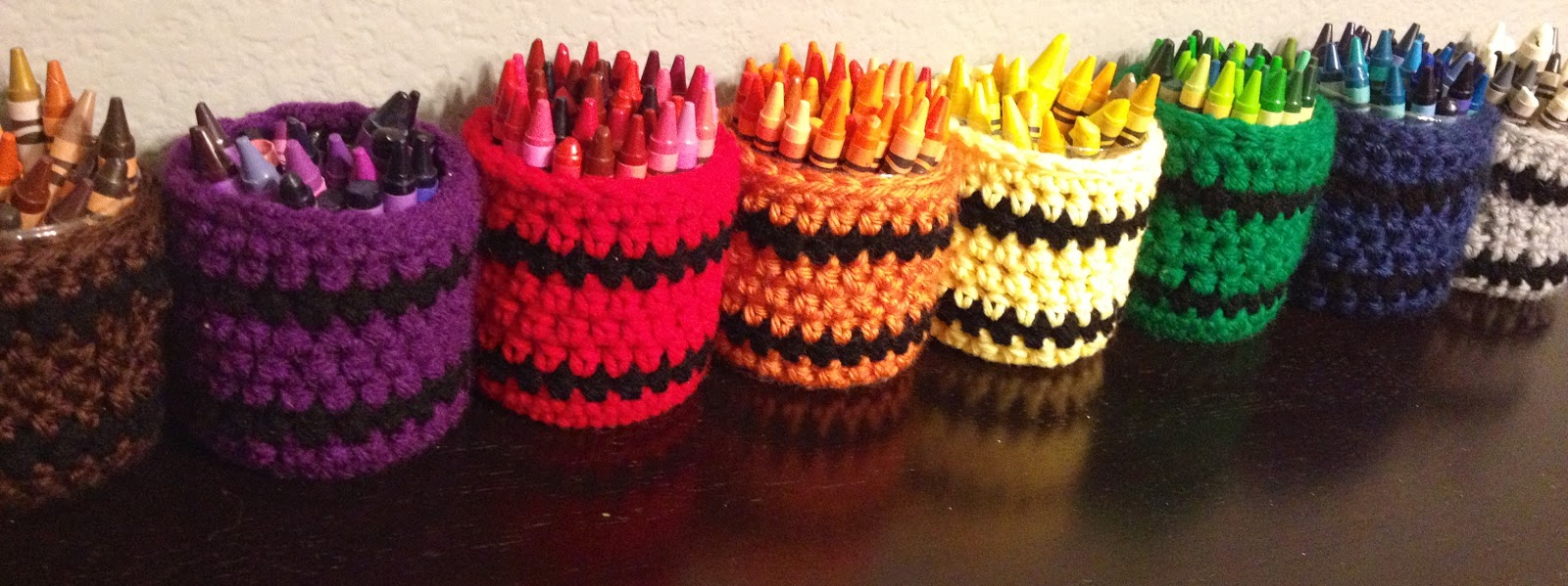 My Crazy Yarn Obsession Recycled Crayon Cozy Cup Holders