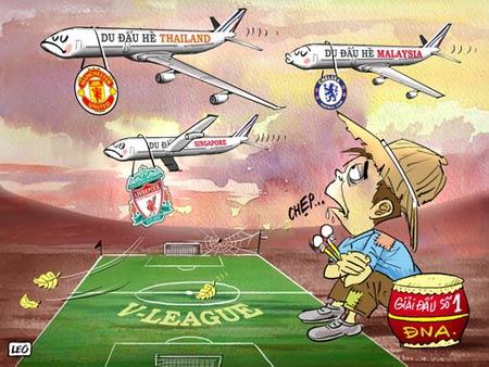 Biếm họa nỗi buồn bóng đá