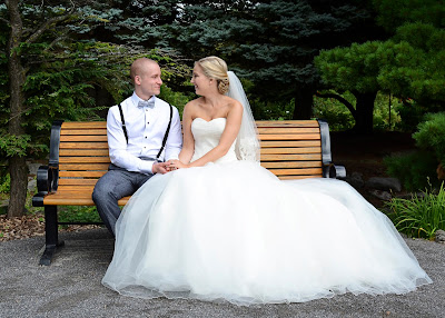 Bride & Groom Park Bench
