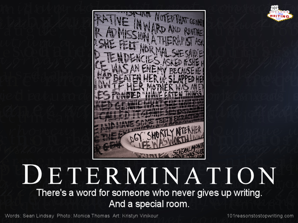 how to show determination in writing