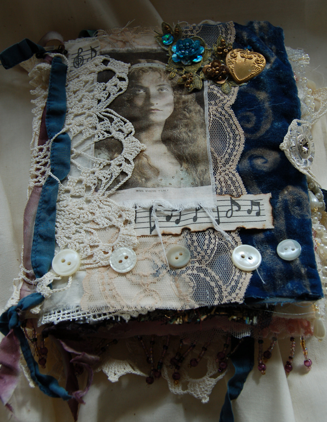 Fabric Cover Guest Book ~ The artistic stamper creative team fabric book pages