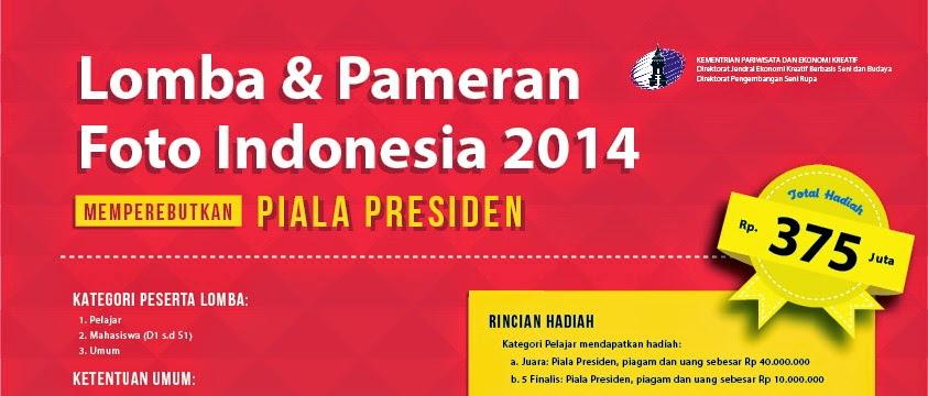 Lomba Foto Indonesia 2014 dengan Tema Indonesia Bersatu dalam Keragaman