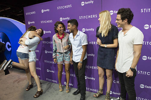 Stitchers cast at the D23 expo 2015
