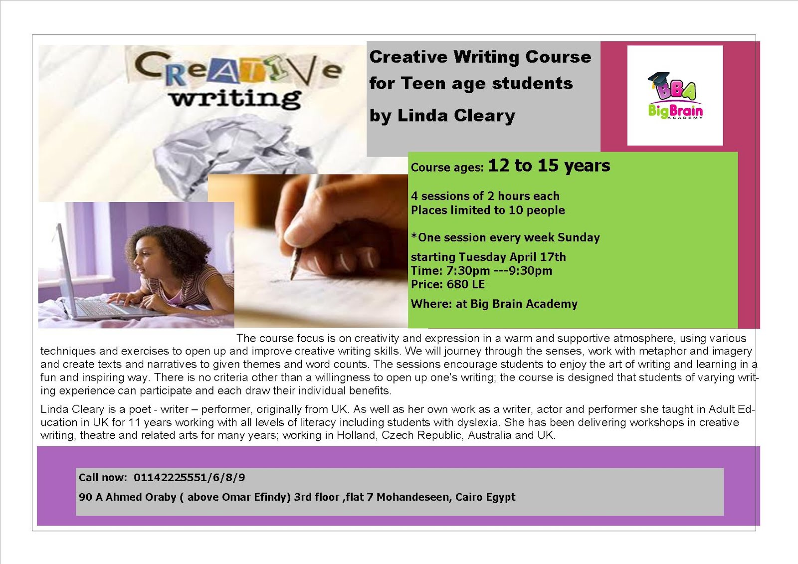 online college courses in creative writing