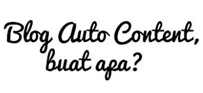 Cara membuat blog auto dan AGC