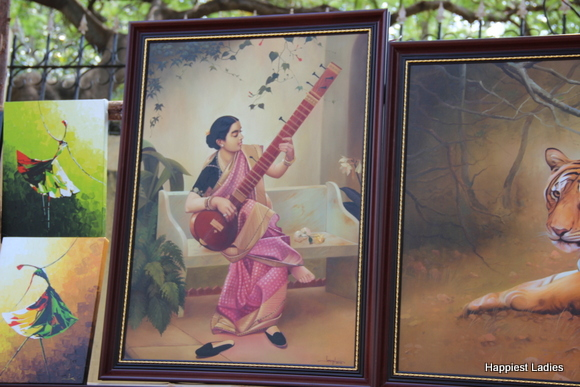 classical oil painting india