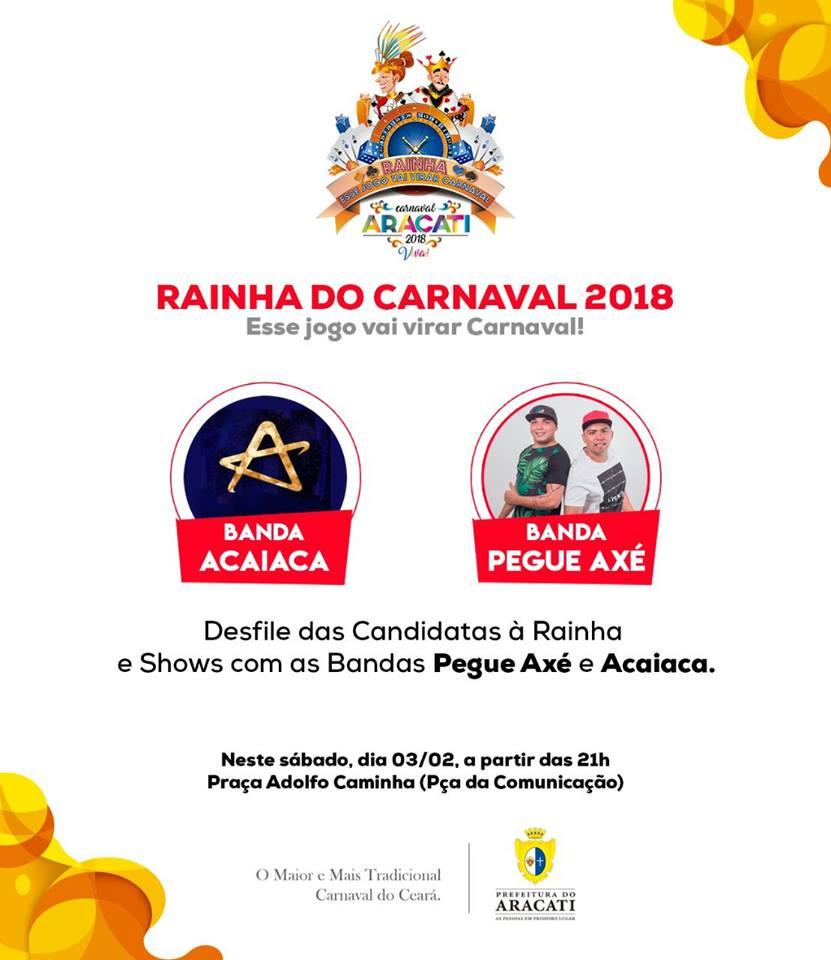 Escolha da Rainha e do Rei Momo do Carnaval Aracati 2018