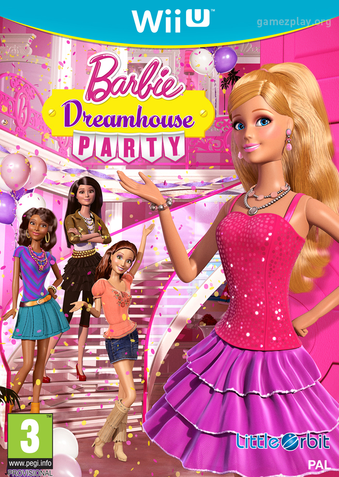 Barbie Dreamhouse Party New Video Game Box Design