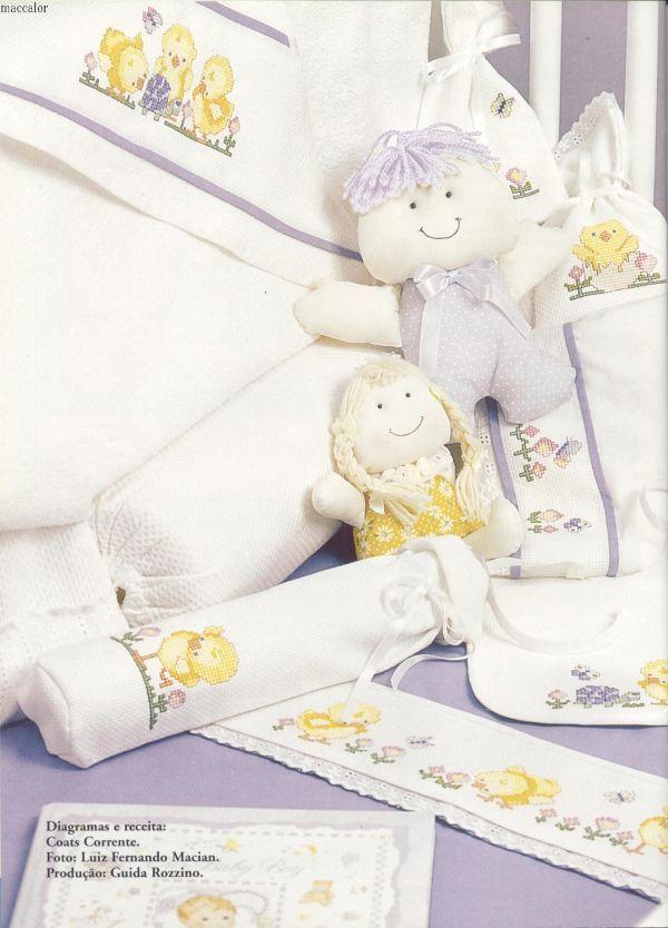 Вышивка на постельном белье схема 432