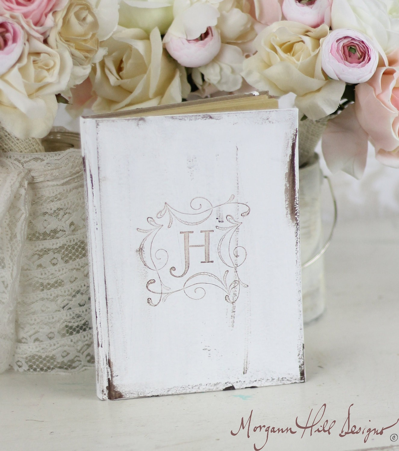 Morgann Hill Designs: Bridal Shower Rustic Guest Book Shabby Chic ...