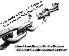 How I Can Remov Or Fix Broken URL For Google Adsense Crawler