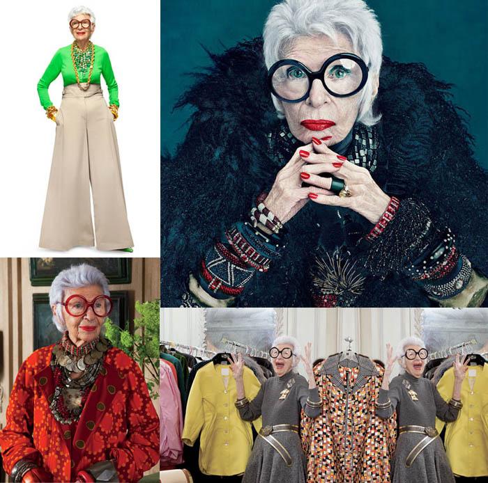 MINHA MÃE QUER SER MOCINHA_Iris Apfel_Vovó fashion_vovó da moda_ rainha dos acessórios_decoradora_estilo divertido