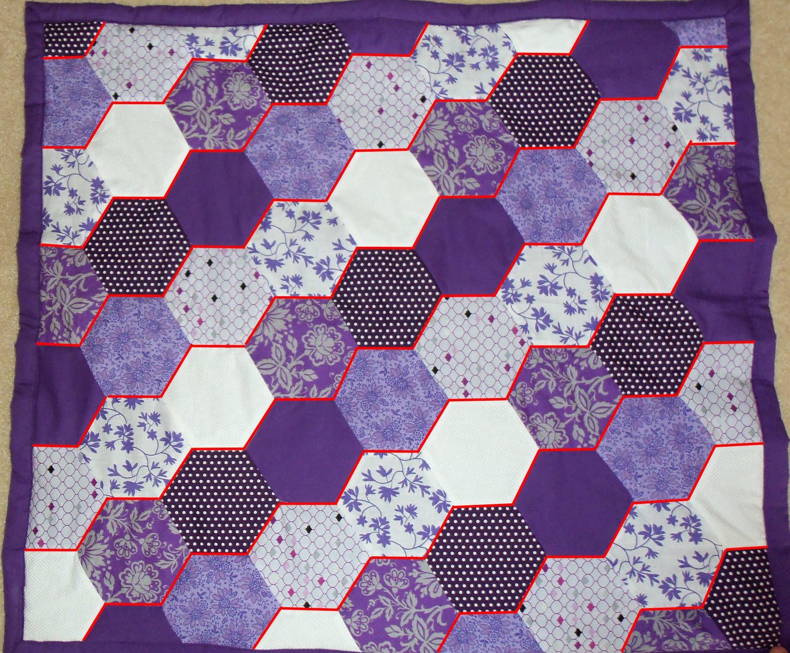 Hexagon Baby Quilt - Cutesy Crafts : hexagon baby quilt - Adamdwight.com