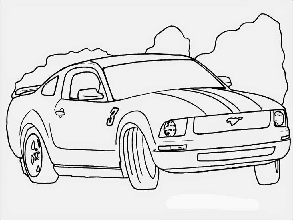 Realistic Car Coloring Pages : Ford car coloring pages realistic