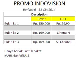 Promo Indovision bulan ini