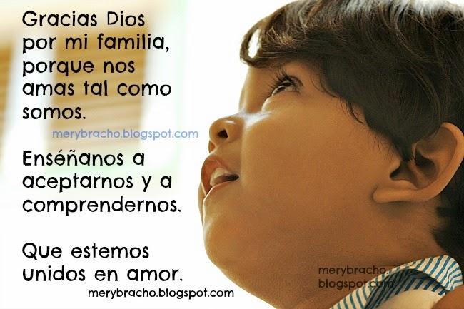 Poema De Gracias Dios Por MI Familia