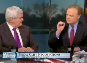Lawrence O'Donnell Confronts Gingrich: Asks Him To Apologize For Predicting Clinton Tax Increases Would Lead To Downturn