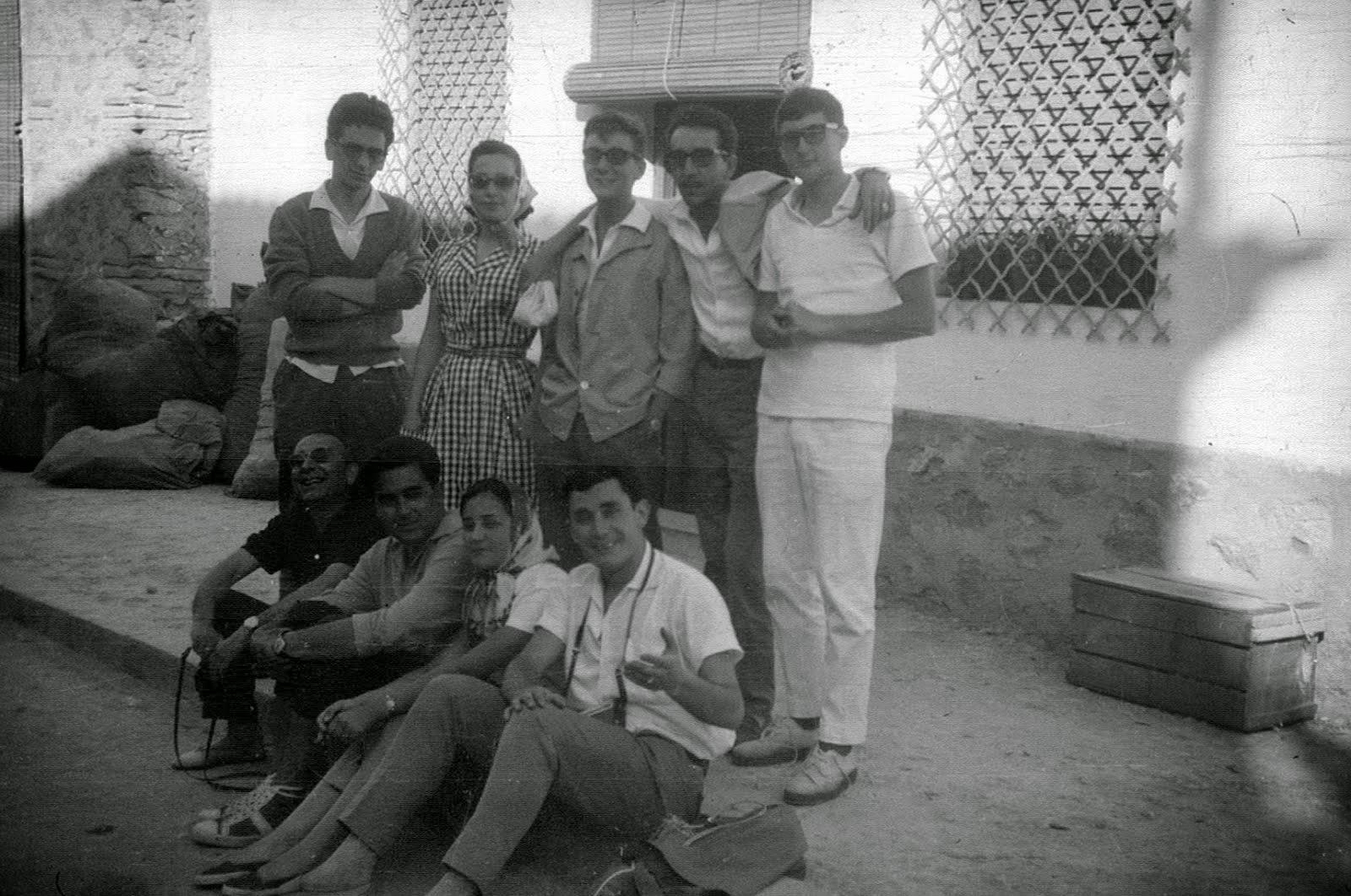 El equipo de la Emisora del Instituto en 1962