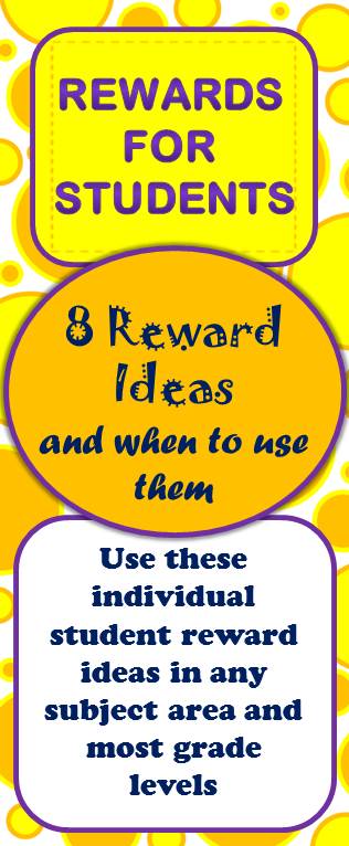 Classroom Reward Ideas For Middle School ~ Teaching with elly thorsen middle school student reward ideas