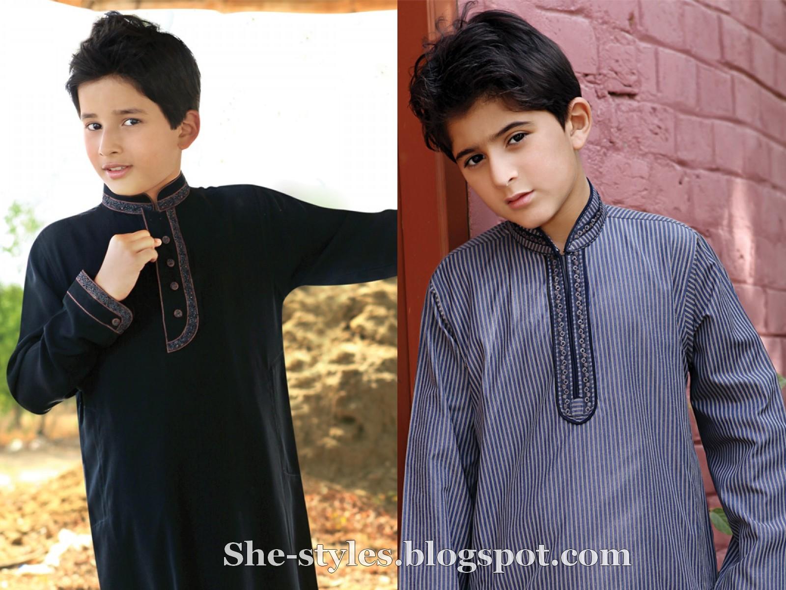 Eid kids kurta shalwar kameez designs 2013 2014 - Eden Robe Kids Shalwar Kameez New Arrivals 2012 Eden Robe Boys Kurta
