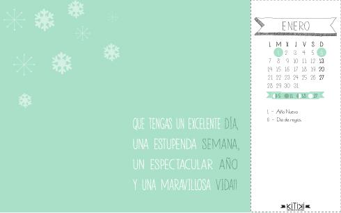 original calendario enero 2013 positivo