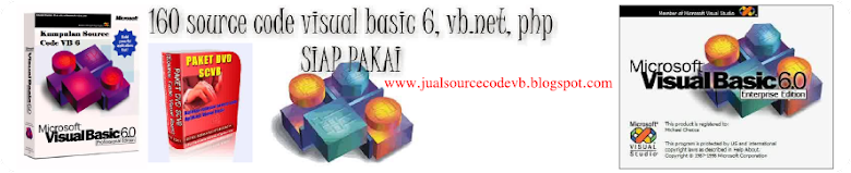 Jual Source Code VB | Jual DVD Source Code Visual Basic 6.0