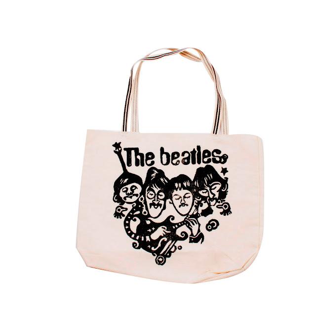 """Bolsa Ecobag com estampa em Xilogravura Xilo Shirt - Série """"The Beatles"""""""