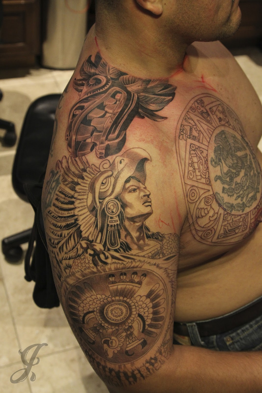 aztec serpent tattoo hot girls wallpaper. Black Bedroom Furniture Sets. Home Design Ideas