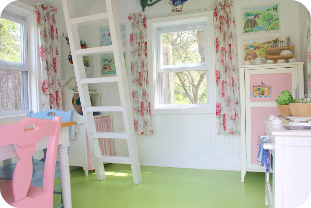 Aplaceimagined picture perfect playhouse for Interior playhouse designs