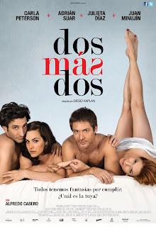 Imagen del poster oficial de la película 'Dos más Dos'