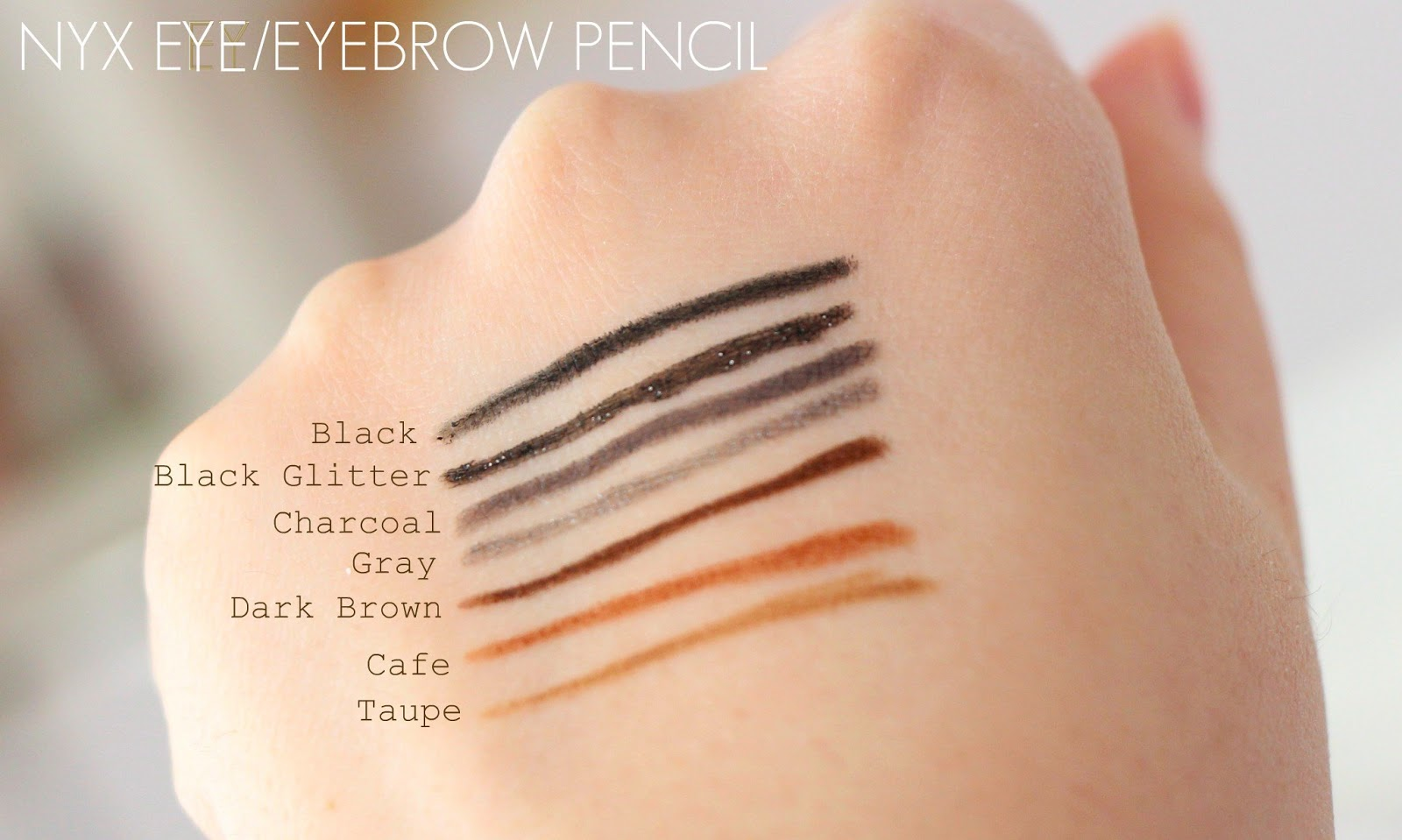 MakeupMarlin NYX Eye Eyebrow Pencil Dark Color