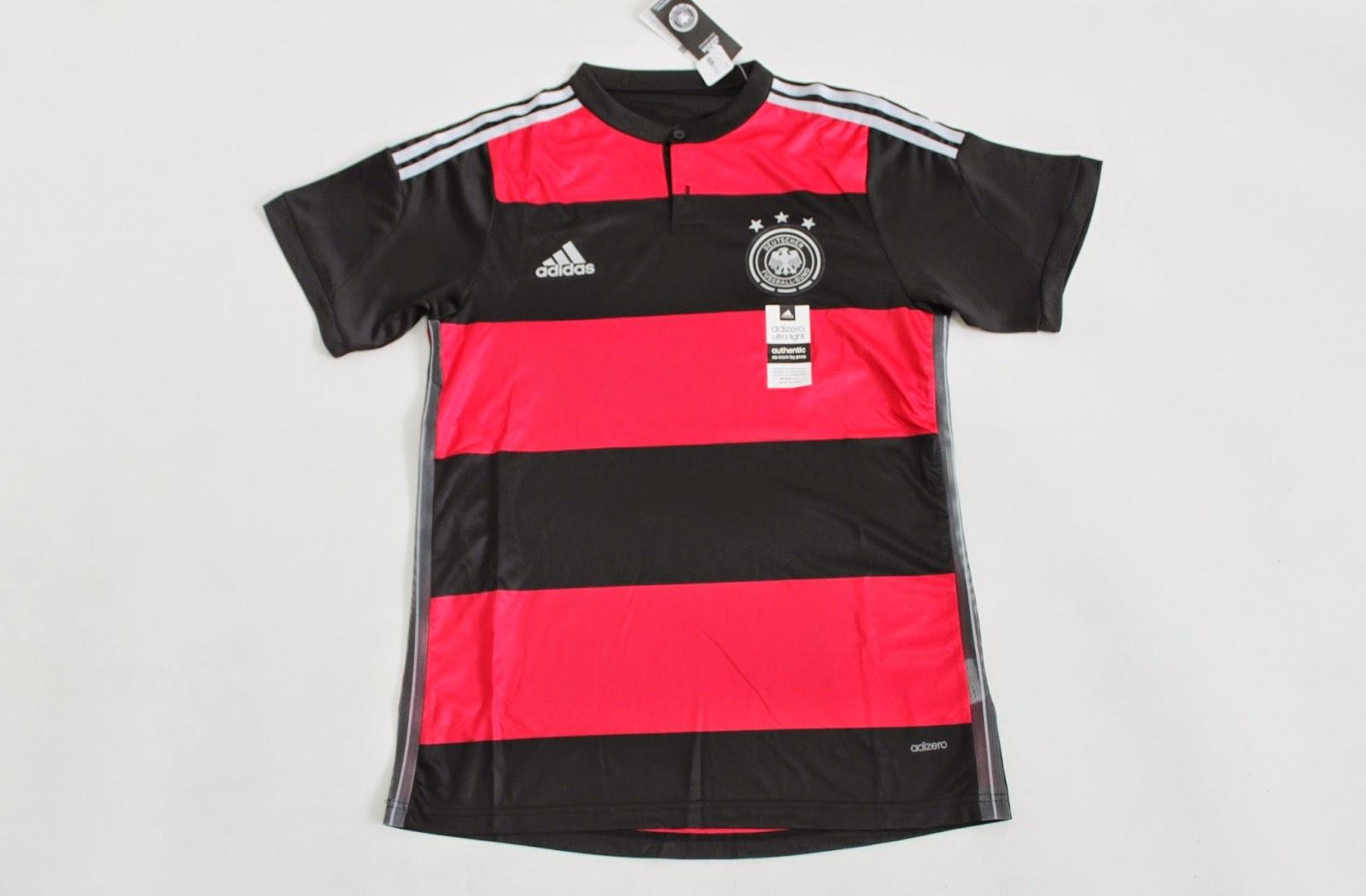 Jersey Bola Grade Ori Jerman Away Adidas Adizero Piala Dunia 2014 Untuk Pemain
