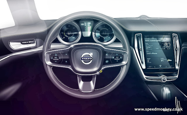 New Volvo P1800 - 2014 Volvo Concept Coupe dashboard