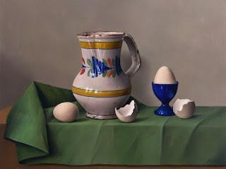 Huevos Pintura Bodegon Cocina