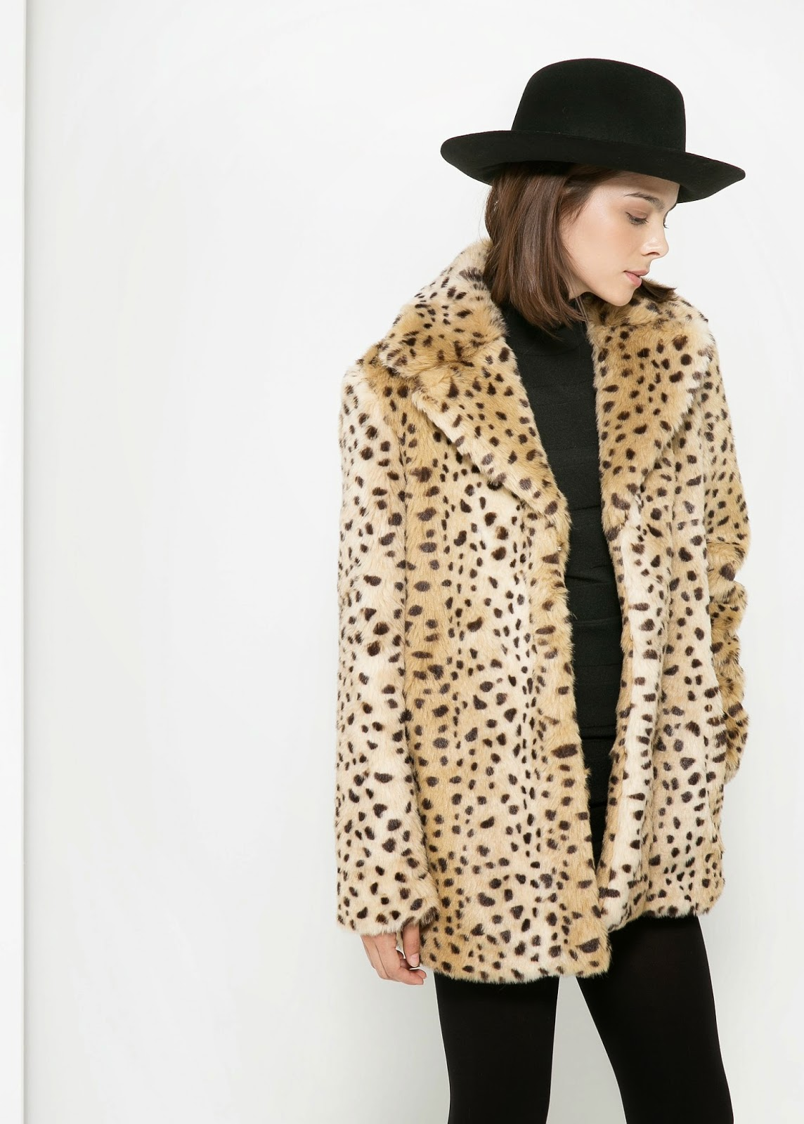 leopard fur coat mango