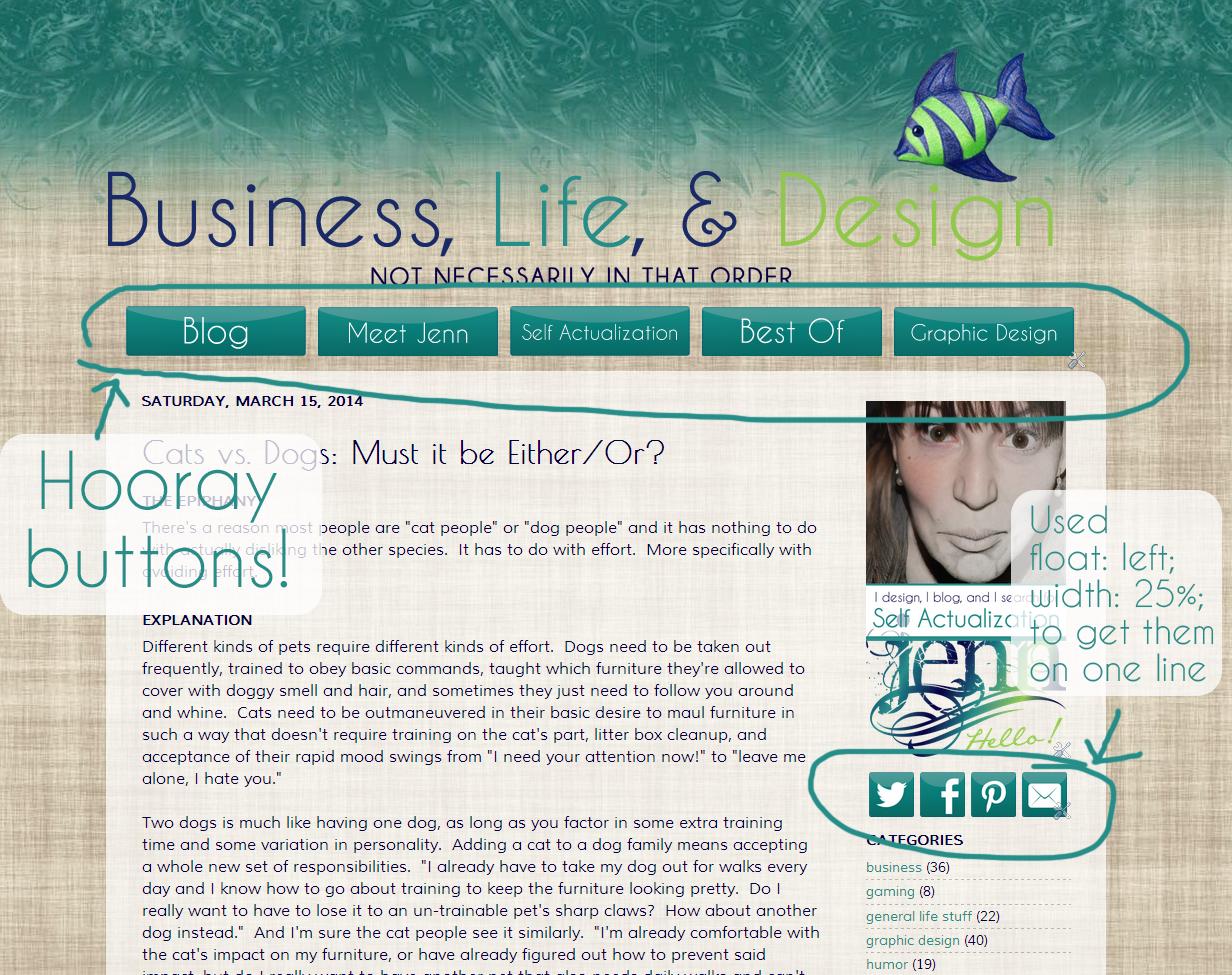 Custom navigation example | Business, Life & Design