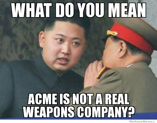 north korea kim jung un acme not real funny meme pinoy jokes photos 2013 kim jong un north korea funny meme funny pinoy jokes atbp
