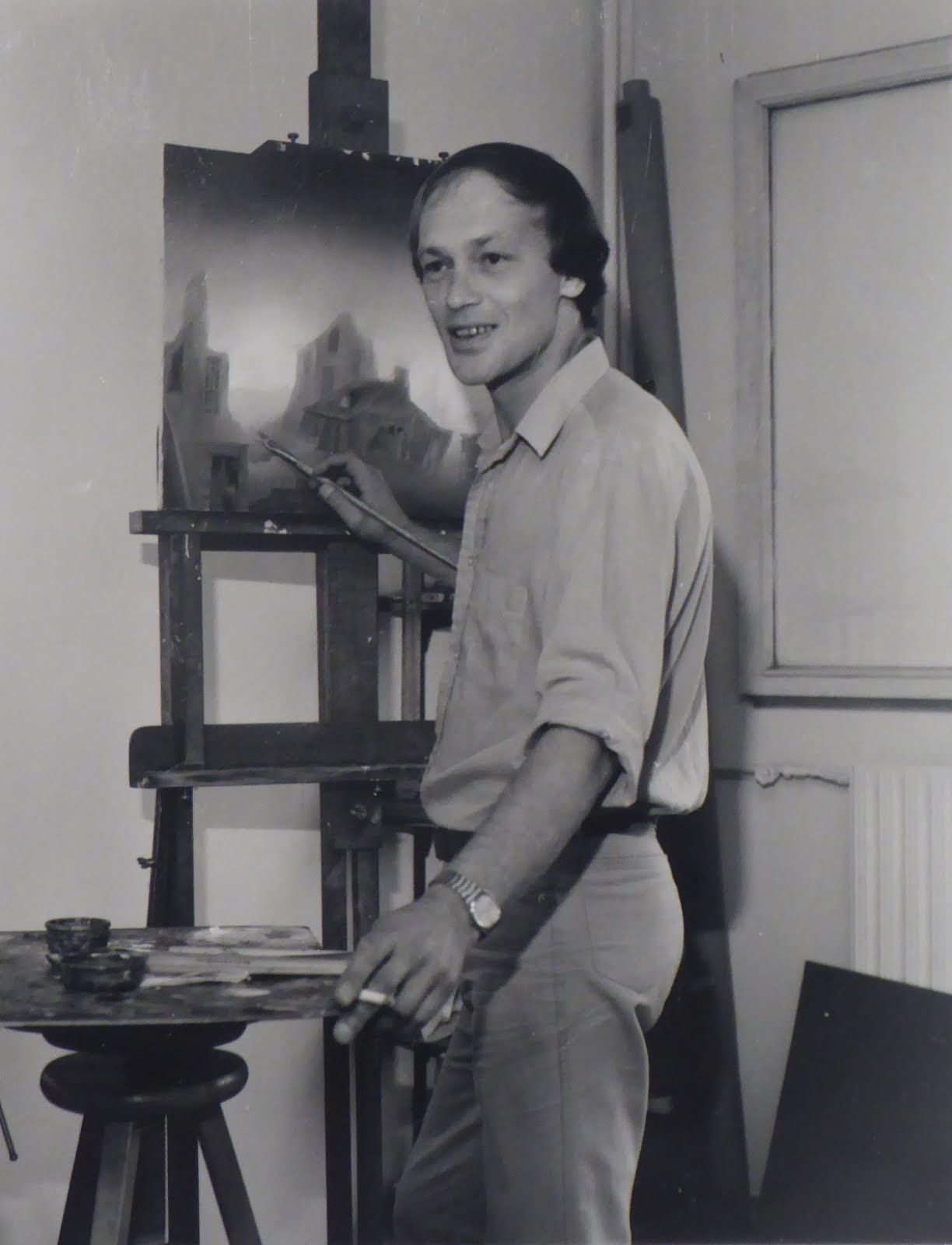 ALEXANDER RABINE AT THE EASEL
