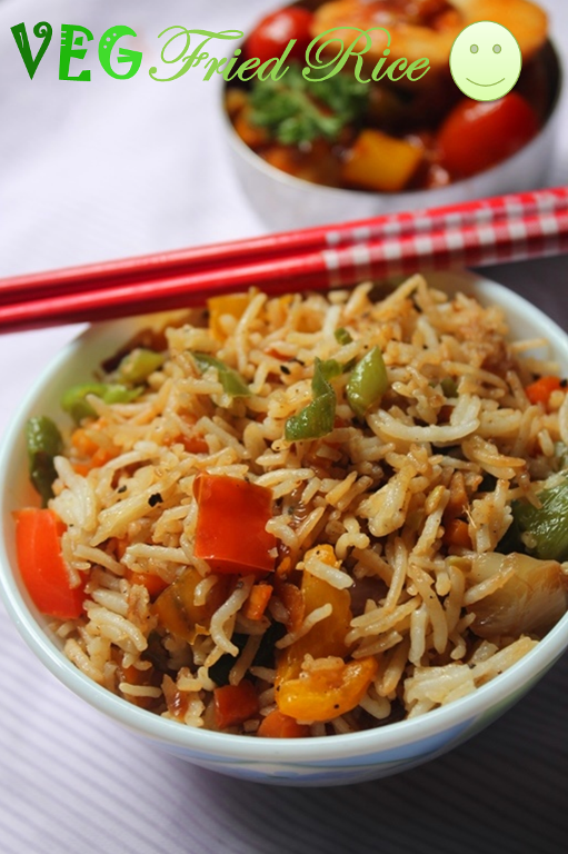 how to prepare veg fried rice in home