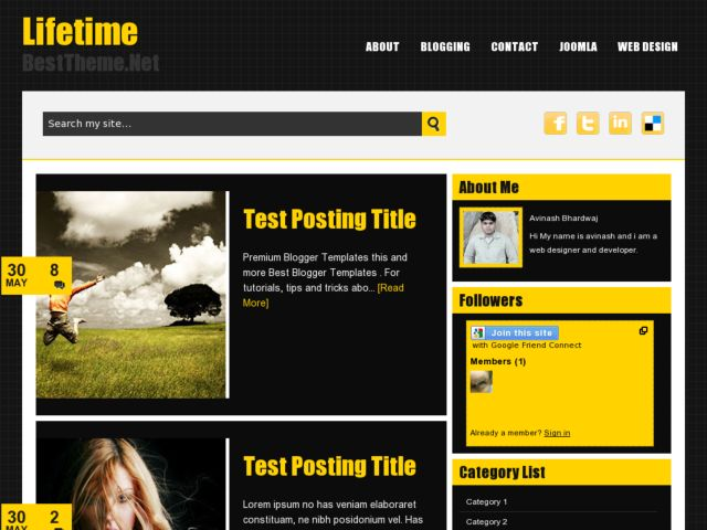 Lifetime Blogger Template