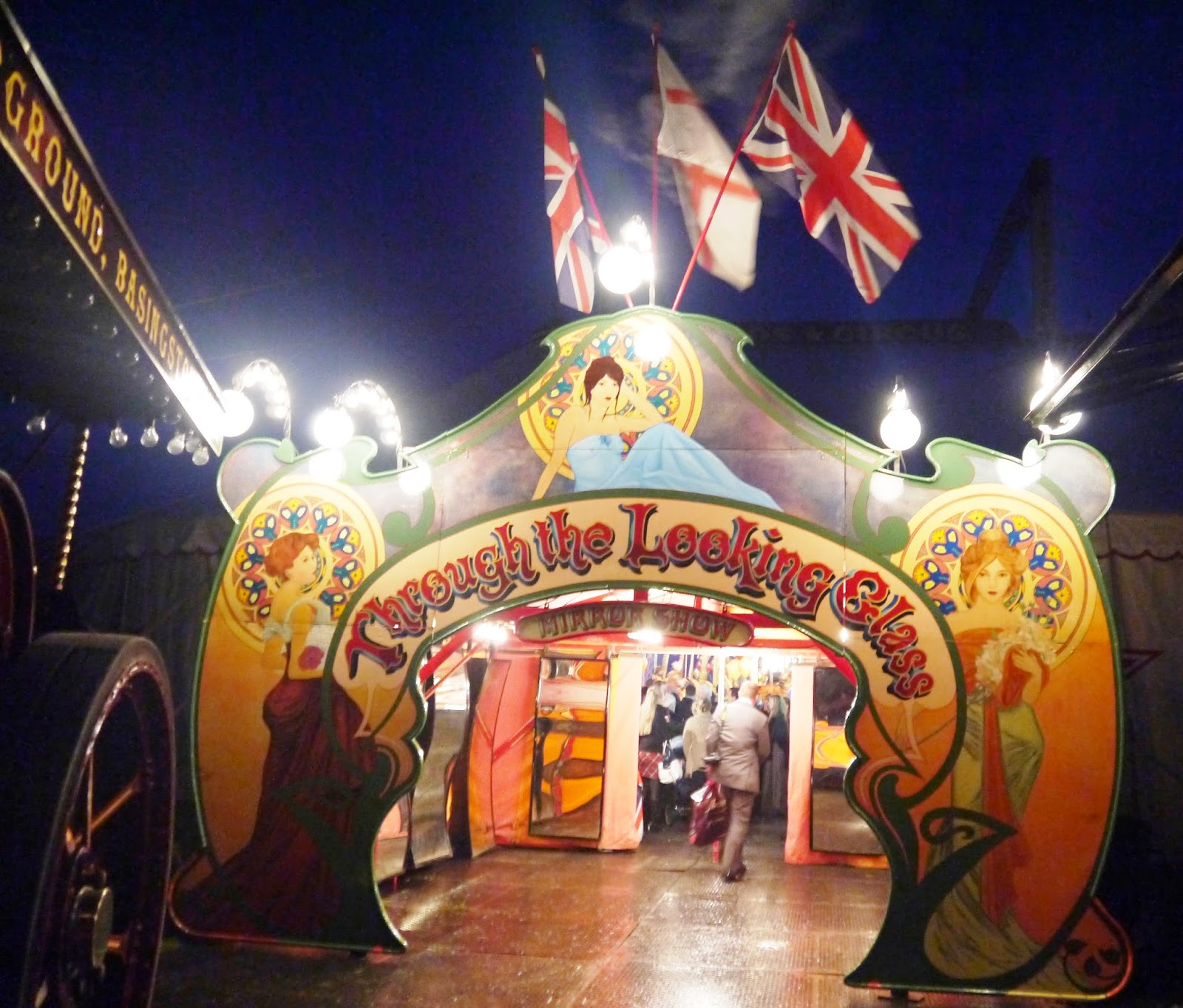 Carters Steam Fair Wedding - Entrance to the Big Top