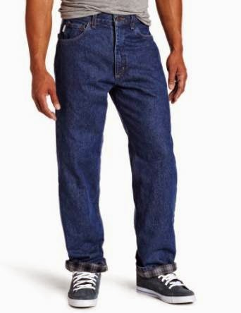 Carhartt Men's Flannel Lined Relaxed Fit Straight Leg Jean