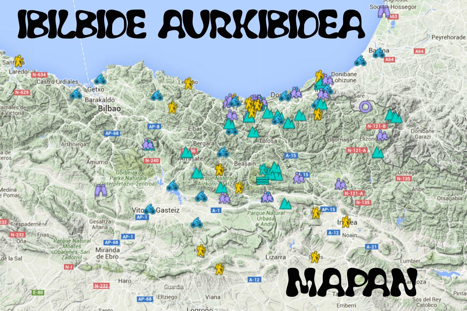 IBILBIDE AURKIBIDEA MAPAN
