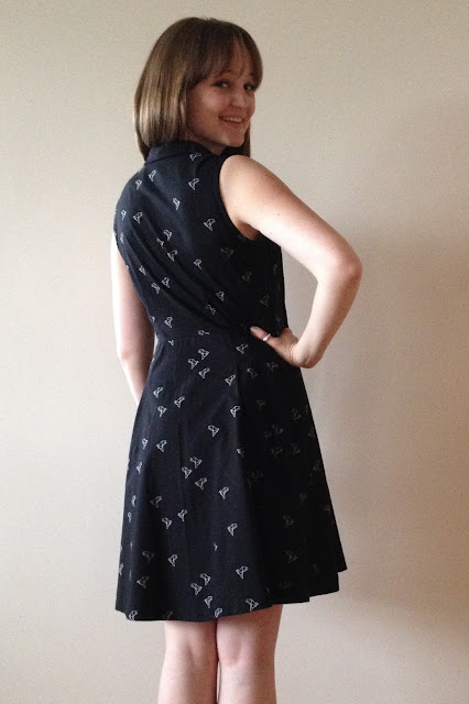 Diary of a Chain Stitcher: Sew Over It Vintage Shirt Dress in Atelier Brunette Origami Birds Cotton Lawn